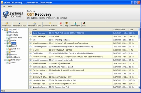 Best Tool for OST Recovery screenshot